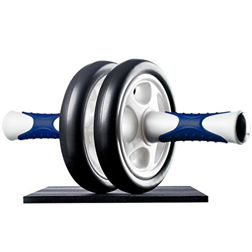 Ultrasport AB Roller Aparato de abdominales, práctico aparato de fitness para entrenar musculatura y espalda, rodillo de abdominales con esterilla para las rodillas Unisex adulto Azul marino