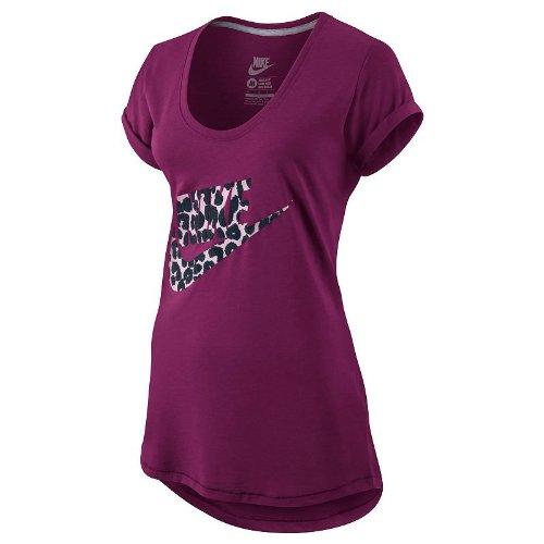 Nike NSW Futura Logo T-shirt pour femme en coton biologique Rouge