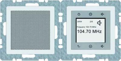 Preisvergleich Produktbild Berker Radio Touch 28806089 polarweiß samt Q.1 Elektronik-Gerät für Installationsschalterprogramme 4011334342465