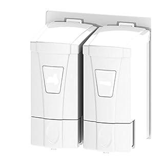 AVIVA® Mini Double Flüssigseifenspender (2 x 250ml) weiß