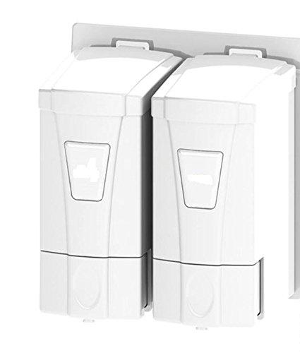 aviva-classic-white-mini-double-liquid-soap-dispenser-2x250-ml-new