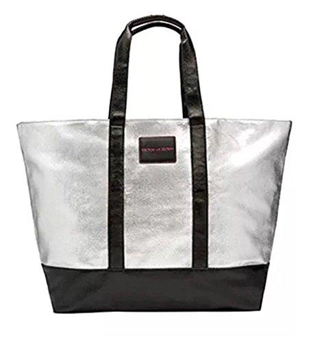 Victoria's Secret Silver Weekender Tasche Tote Bag (Victoria Secret Reißverschluss Tote)