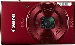 Canon IXUS-180 20MP Point and Shoot Camera with 10x Optical Zoom (Red)
