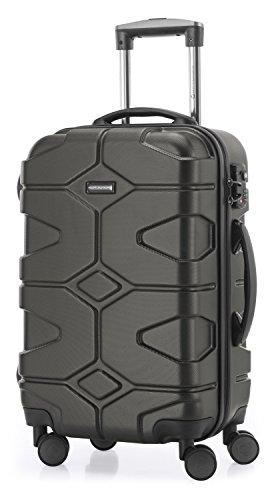 HAUPTSTADTKOFFER - X-Kölln - 2er Koffer-Set Trolley-Set Rollkoffer Reisekoffer, TSA, (S & L), Graphite matt - 2