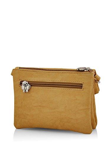 Butterflies Women's Sling Bag (Mustard) (BNS 2395MSD)