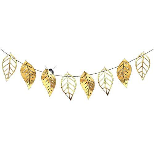 Puizza 8pcs hohlen Blatt Blume hängende Ornament Wandtattoo Party Hochzeit Dekorationen Textilbanner