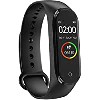 SBA A002 M4 Plus Bluetooth Wireless Smart Fitness Band for Boys/Men/Kids/Women | Sports Watch Compatible with Xiaomi, Oppo, Vivo Mobile | Heart Rate and BP Monitor, Calories Counter