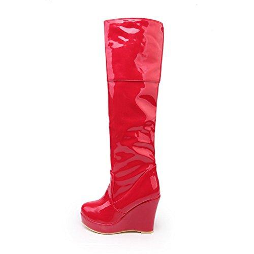 1to9 - Bottes Pour Femmes Rouges Chukka