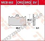 Bremsbelag TRW / Lucas MCB602, Organische Mischung mit ABE für Kawasaki GPZ900 R Baujahr 1996