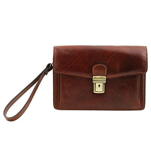 Tuscany Leather Tommy - Esclusivo borsello a mano in pelle - TL141442 (Marrone) Marrone