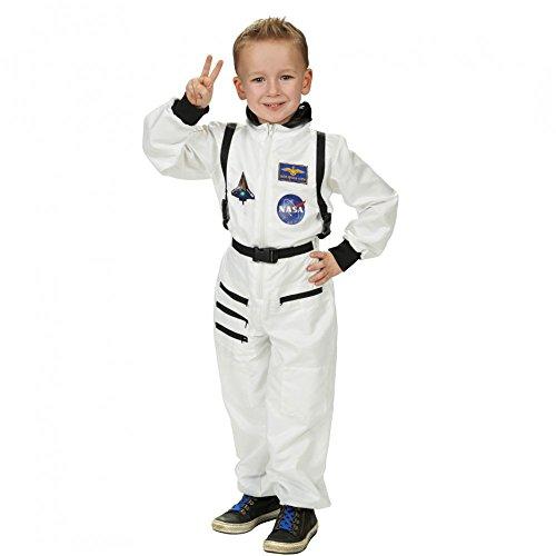 Raumfahrer Kostüm Kind (Kinder Kostüm Astronaut Overall weiß Raumfahrer)
