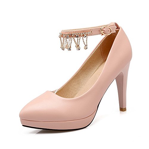 Donna Loop A Flessibile Scarpe Voguezone009 Pink Materiale Con Punta Tacco Luce Alto Mosaico HPCdqw
