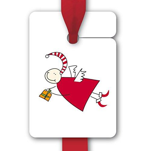 Kartenkaufrausch Süße Weihnachts Geschenkanhänger mit Weihnachtsengel (8Stk) universal Etiketten, Papieranhänger, Geschenkkarten, Etiketten für tolle Geschenk Verpackungen