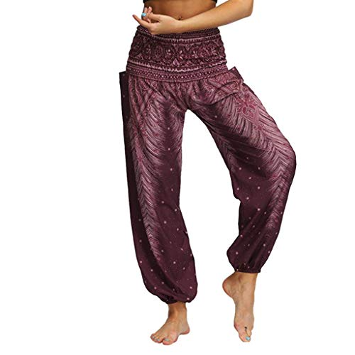 KIMODO® Damen Baggy Boho Drucken Hose lose Hippie-Yoga-Sport Hose Freizeithose Aladdin Beiläufige Pants -