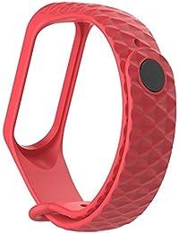 Flower205 para Mi 3 3PCS Pulsera correa de repuesto de silicona a rayas pulsera elegante correa Color aleatorio