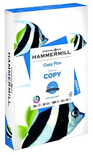 Hammermill Paper Copy Plus Papier 8,5 x 14 Papier legale Größe 20 lb Papier 92 hell 1 Ries 500 Blatt (105015R) säurefreies Papier (Hammermill-copy Papier)