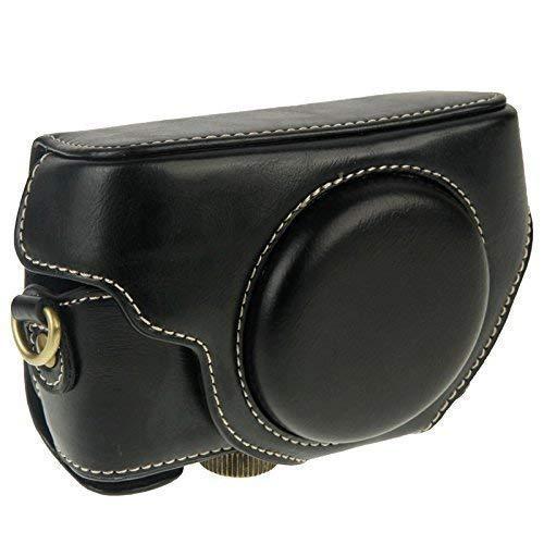 Tasche Schutzhülle Kameratasche für Sony Cyber-Shot DSC-RX100, RX100 II, RX100 III, RX100 IV, RX100 V, RX100 VI Leder-Optik Schwarz Cyber-shot Soft Case