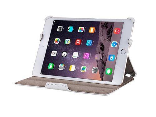 Gecko Apple iPad Mini 4 Hülle Slimfit - Weiss - Multifunktionelle Tasche bietet Schutz und Multimedia-Komfort / Cover mit automatischen Aufweck/StandbyFunktion - Tablethülle geeignet für iPad Mini 4 A1538 / A1550 - Multimedia-tasche