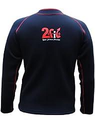2Fit Camisa el sudor de neopreno Sauna exe-gym Rash Guard Pérdida de Peso fitness Top MMA, Medio, Grande, XL, 2X L.3X L, negro/rojo