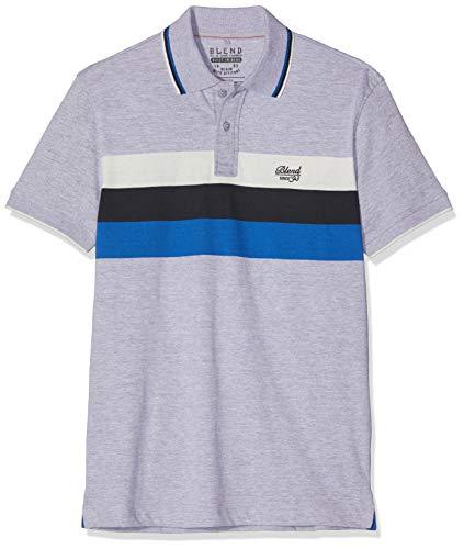 Blend Herren Poloshirt Poloshirt, per Pack Grau (Stone Mix 70813), X-Large (Herstellergröße: XL) -