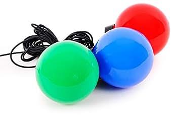 3 boules lumineuses flottantes éclairage lumière extérieur jardin étang terrasse rouge bleu vert Eglo 86516