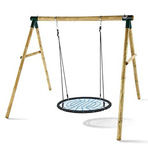 Acecoree Kinder Swing Schaukel Nestschaukel 100 cm Schaukelgestell Rundschaukel Tellerschaukel...