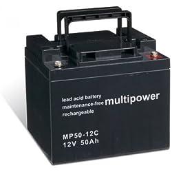 Powery Batería Plomo-ácido (multipower) para Silla de Ruedas Eléctrica Quickie Salza cíclica