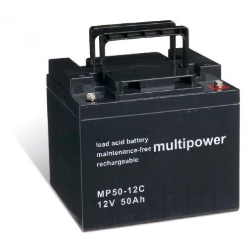 Powery Batería Plomo-ácido (multipower) para Silla de Ruedas Eléctrica Pride Celebrity XL cíclica