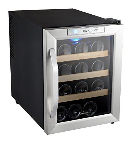Kalamera KRC-12ASSE Cave à vin réfrigérée 33L (peut contenir jusqu'à 12 bouteilles de vin de taille standard) , température 10-18 ° C