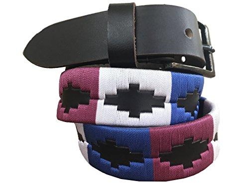 Carlos Diaz Jungen Mädchen Kids Kinder Unisex Argentinischen Braun Leder Bestickte Polo Gürtel (60 cm/ 22-24 Inches) (Gaucho Mädchen)