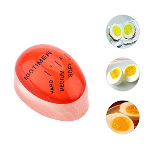 guoshi594 1 Pezzo Uovo Perfetto Cambia Colore Timer Yummy Morbido Uova Sode Cucina Cucina Eco-Friendly Resina Egg Timer Strumenti Timer Rosso