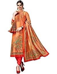 fe13fcbf64 BKRKJ Women's Pure Silk Fabric Unstitched Dress Material | Party Wear  Premium range Suit | Digital Prints Matching Salwar Printed Silk…