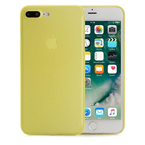 ArktisPRO iPhone 7 Plus Federleichte Schutzhülle matt schwarz-transparent Gelb/Transparent