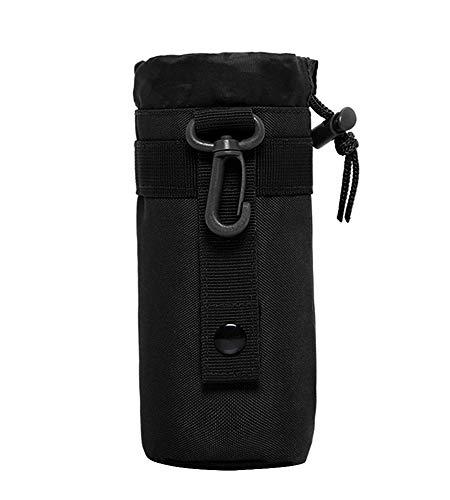 Protector Plus Unisex Adult Taktische Militärwasser-Flaschenhalter wasserdichte Molle-Kessel Beutel-Fördermaschine für das Kampieren-Wandern Laufen, S1-Black, -
