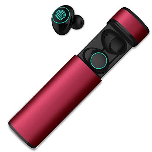 HolyHigh Bluetooth Kopfhörer in Ear Bluetooth Headset Stereo-Minikopfhörer mit Ladekästchen und integriertem Mikrofon für Android und iPhone(Rose rot) thumbnail