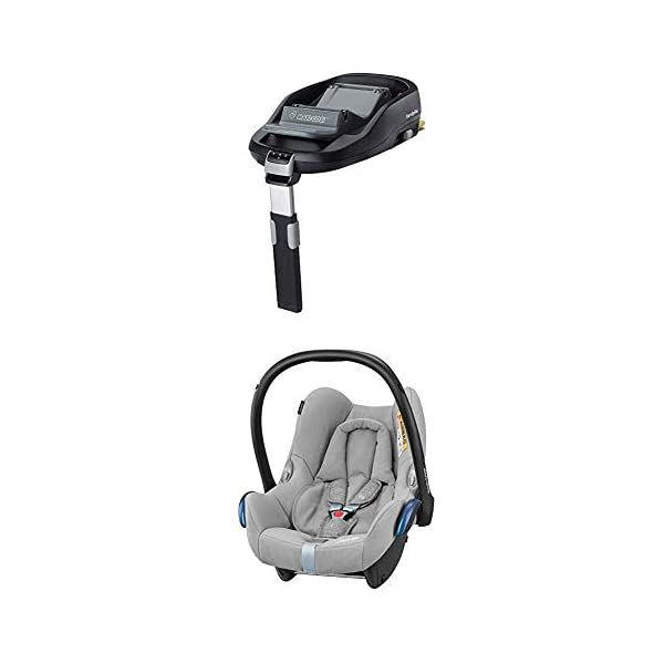 Maxi-Cosi FamilyFix ISOFIX Base Suitable for CabrioFix with Baby Car Seat, Nomad Grey Maxi-Cosi ISOFIX car seat base suitable for children up to 18 kg (from birth to 4 years) Click and go installation: Easy car installation in combination with Maxi-Cosi CabrioFix and Pearl car seats Baby car seat, suitable from birth to 13 kg (birth to 12 months) 3