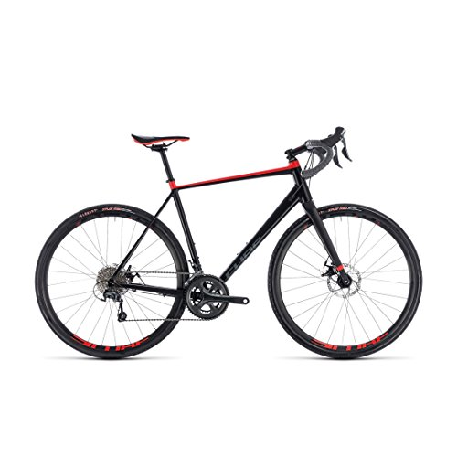 GRAVEL Bike Cube nuroad black' N 'Red 2018 – 56 cm (Cube Tapered)