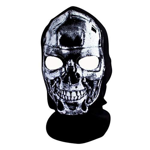 Face Kostüm Ghost Muster - Haoxiaren Halloween Schädel Muster Maske Horror 3D Gedruckt Maske Outdoor Sport Gesicht Maske Tragbare REIT Maske Festliche Partei Liefert