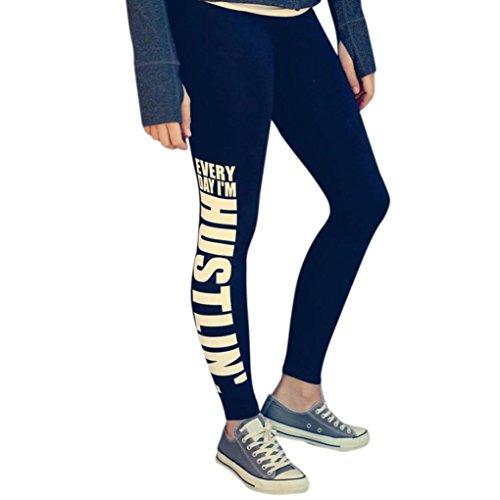 Femmes Sportswear,Tonwalk Yoga Workout Gym Leggings Pantalon sport Pantalons athlétiques Noir