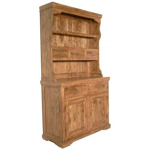CAL FUSTER - Alacena rustica de dos cuerpos de madera maciza de...