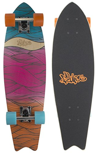 authentic sports & toys GmbH Skateboard Cruiser ABEC 7, No Rules, Waves, bunt, One Size