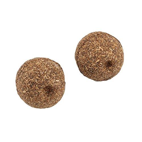 Lalang 2 Stück Natural Pet Hund Katze Katzenminze Ball Hairball, Natürliches und gesundes Spielzeug für Ihre Katze