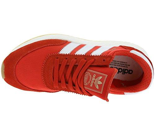 adidas Iniki Runner, Sneakers Basses Homme, Rot Rouge (Red/footwear White/gum)