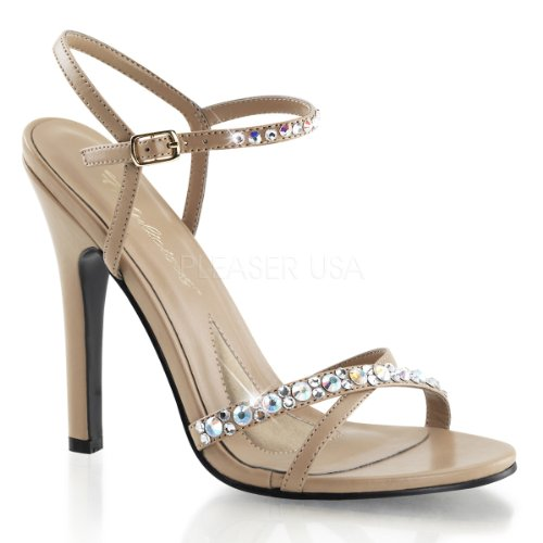 Fabulicious melody - 15–r high heels femme avec strass 35–41 taupe Taupe Pu