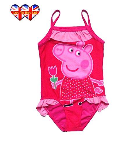 Entzückender rosa Peppa-Schwein-einteiliger Badeanzug mit Ballettröckchen! (5-7 Jahre / 52X25cm)