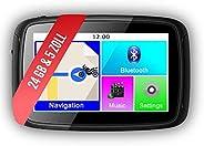 Elebest Rider W5 Navigationsgerät 5 Zoll (12,7 cm) Touchscreen,Motorrad,PKW,Bluetooth,Wasserdicht,Neuste Europ