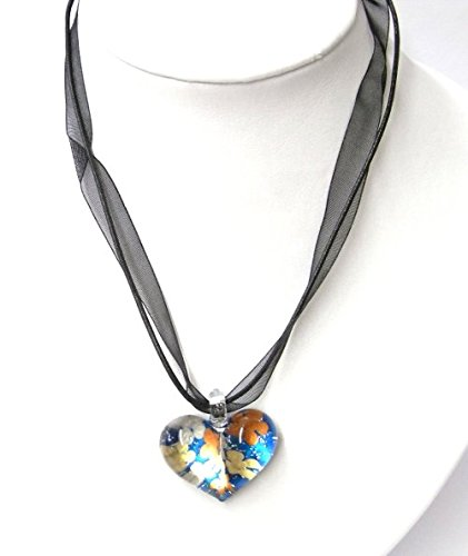 chic-net-glass-pendant-with-stoffkette-stained-with-herzformig-pattern-3-5x2-5cmoe