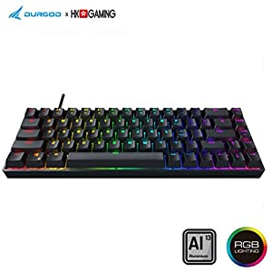 Durgod Hades 68 Mechanische Gaming-Tastatur – 65% Layout ANSI US – USB Typ C – Aluminiumgehäuse – Double Shot PBT…