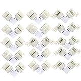 15pcs/pack 10mm LED Eckverbinder, L- Form Schnellverbinder, LED Strip Connector, LED Lichtstreifen Steckverbinder für 5050 RGB LED Streifen, led eckverbinder,LED Strip Lights, LED Band