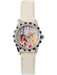 Barbie B392 - Reloj analógico para niña con correa blanca